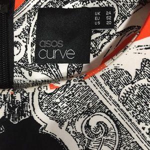 ASOS Curve Dresses - ASOS Curve dress orange scarf print sz. 20